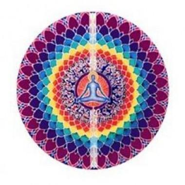 Adesivo per finestra loto meditazione