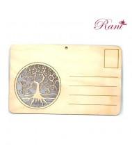 Cartolina in legno Albero