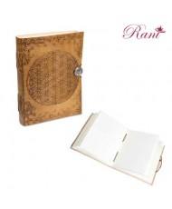 Quaderno in pelle fiore della vita