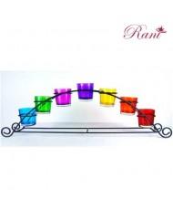 Portacandeline Chakra arcobaleno
