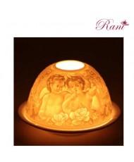 Ceramica porta candele Angeli