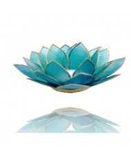 Portacandelina fiore di loto 5 chakra