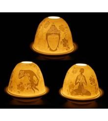 Ceramica porta candele Meditazione