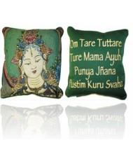 Cuscino Tara Bianca e mantra -collezione