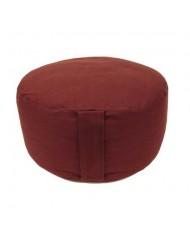 Cuscino Alto meditazione tondo rosso scuro
