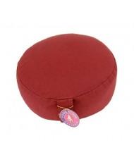Cuscino meditazione tondo colore rosso scuro