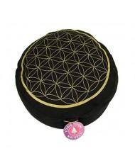 Cuscino meditazione Fiore della Vita oro