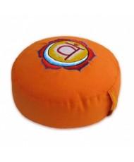 Cuscino meditazione tondo 2° chakra  arancio