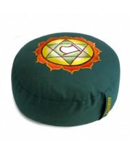 Cuscino meditazione tondo 4° chakra verde