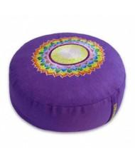 Cuscino meditazione tondo 7° chakra viola