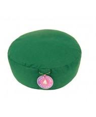 Cuscino meditazione tondo colore verde scuro