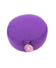 Cuscino meditazione tondo colore viola