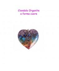 Orgone ciondolo cuore arcobaleno
