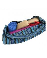 Borsa Yoga sacca multicolore blu
