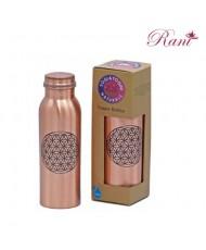 Bottiglia in rame Fiore della Vita stampato